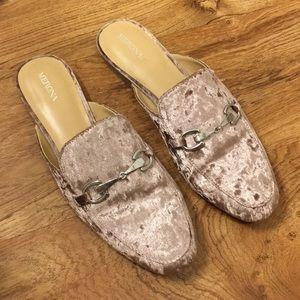 Merona Size 10 Mules - Light Pink Velvet